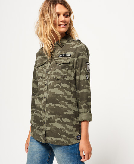 faded camo Superdry Military Shirt