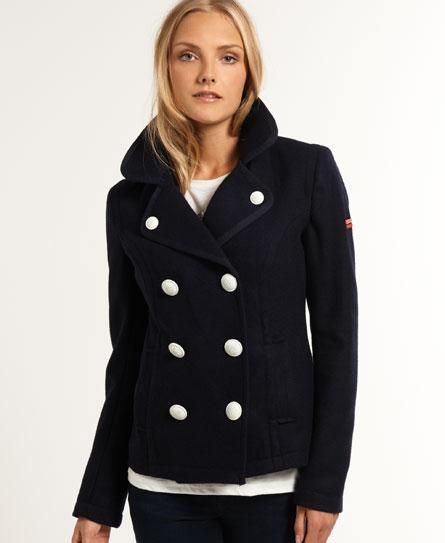 Superdry New Avenger Pea Coat - Women's Jackets & Coats