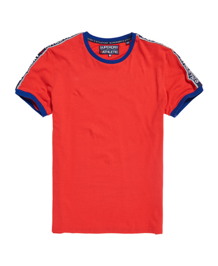Superdry Stadium Ringer T-Shirt Rot