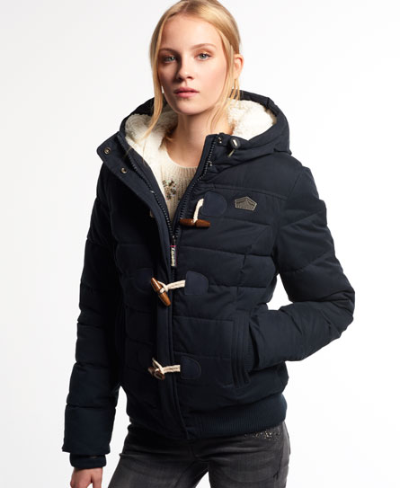 Superdry Microfibre Toggle Puffer Jacket - Women's Jackets & Coats