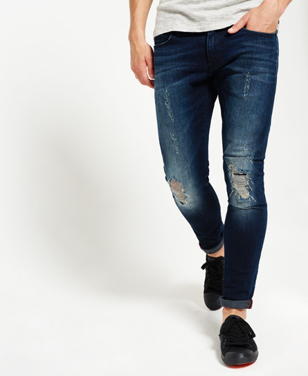 chromium blue tear Superdry Skinny jeans
