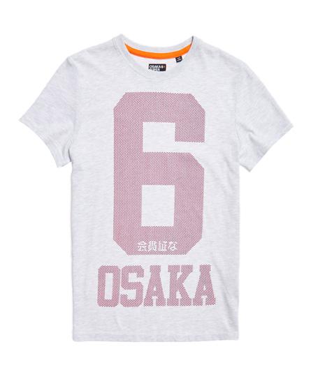 weiß meliert Superdry Osaka 6 Micro Dot T-Shirt