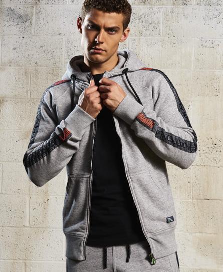 sport grit Superdry Sport Label Impact hættetrøje med lynlås
