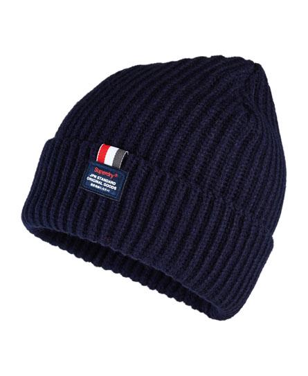 海军蓝 Superdry Stockholm针织圆帽