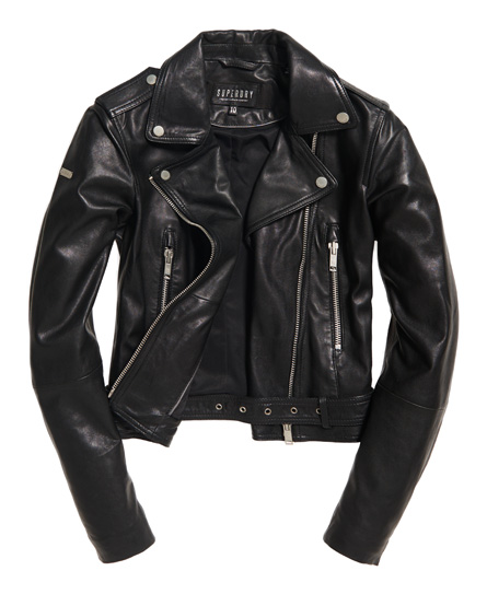 Superdry Tier Leather Biker Jacket