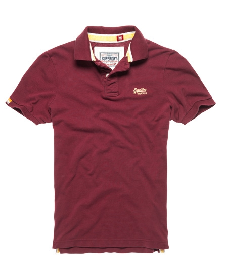 Superdry Classic Pique Polo Red