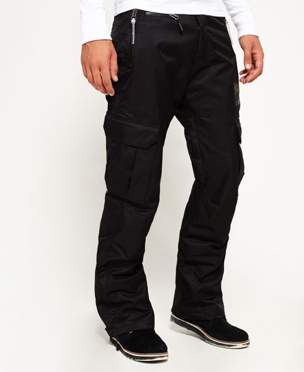 black Superdry Snow Pants