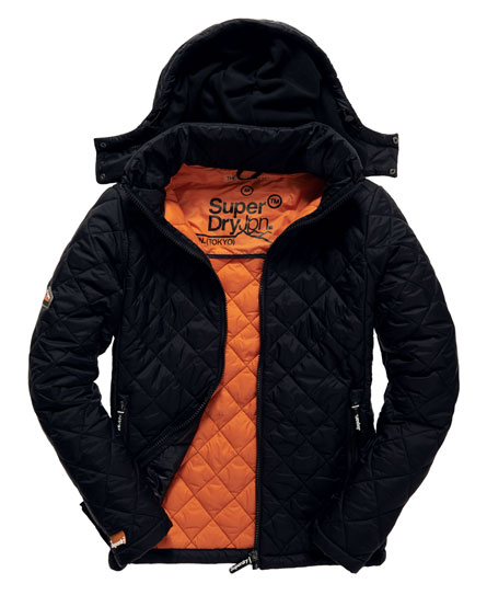 Superdry Fuji Quilt Jacket - Men's Jackets : quilted jacket with hood mens - Adamdwight.com