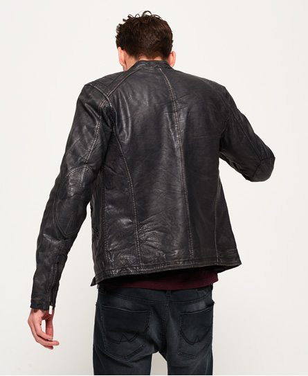 Superdry SD Endurance Comp Racer Leather Jacket