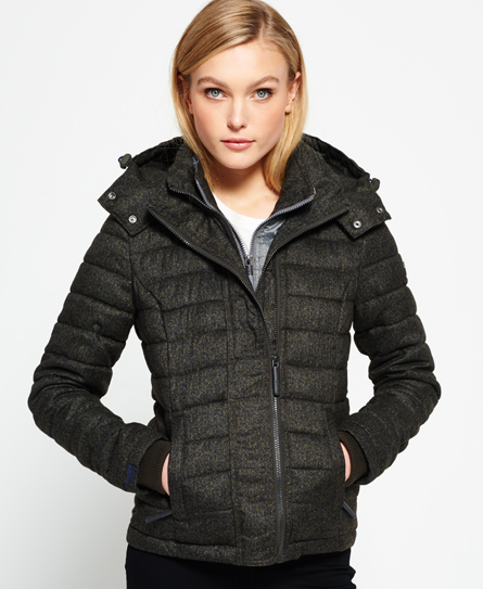 Hooded Fuji Triple Zip Through Jacket