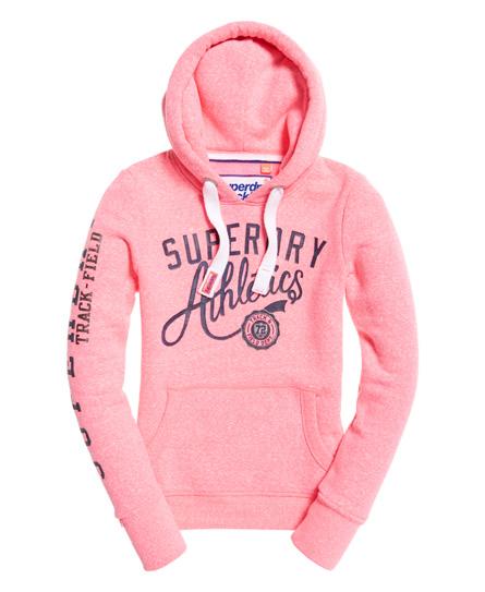 superdry track amp field hoodie damen hoodies