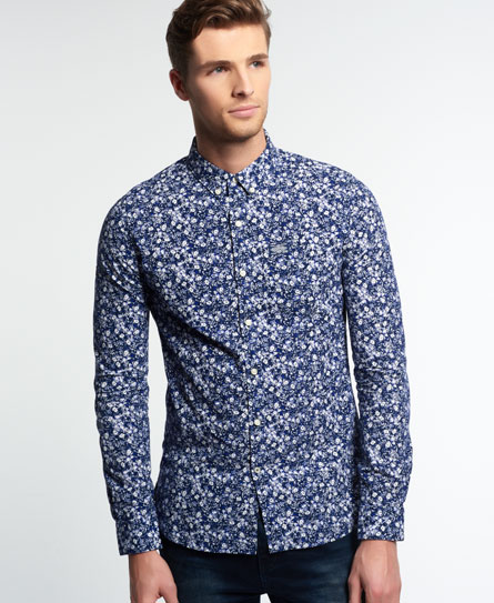 darkest flora Superdry Shoreditch Button Down Shirt