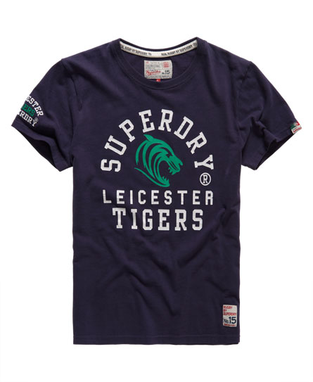 superdry leicester rugby t shirt herren t shirts. Black Bedroom Furniture Sets. Home Design Ideas