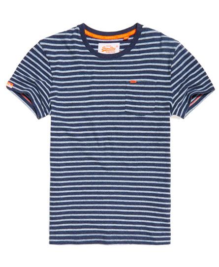 Rustic Stripe T-shirt met borstzak