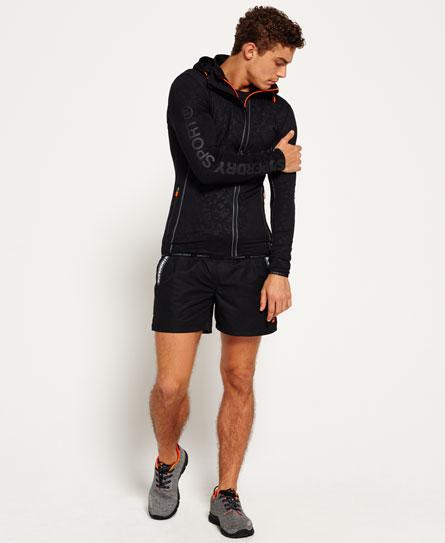 Sports Athletic hoodie met rits en biezen