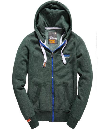 Superdry High Zip Hoodie Green