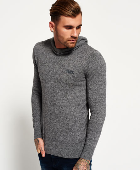 superdry orange label strick hoodie herren hoodies. Black Bedroom Furniture Sets. Home Design Ideas