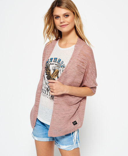 desert rose Superdry Nevada Springs Slub Cardigan