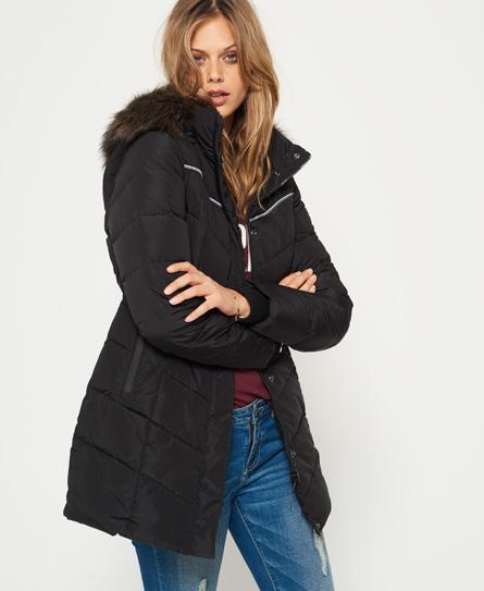 Womens - Glacier Parka Jacket in Black | Superdry