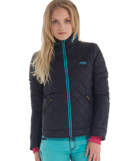 Superdry Core Quilt Jacket Navy