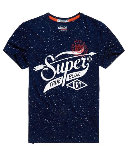 raw indigo mit durchgehendem print Superdry The Craftsman Indigo T-Shirt