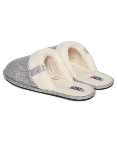 Womens - Marl Mule Slippers In Sleepy Mid Grey Marl   Superdry
