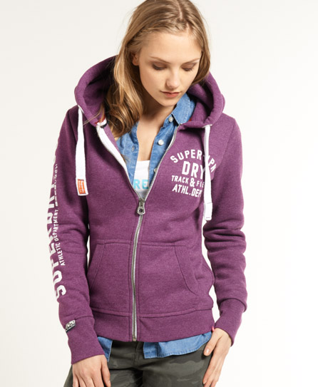 Superdry Trackster Zip Hoodie Purple