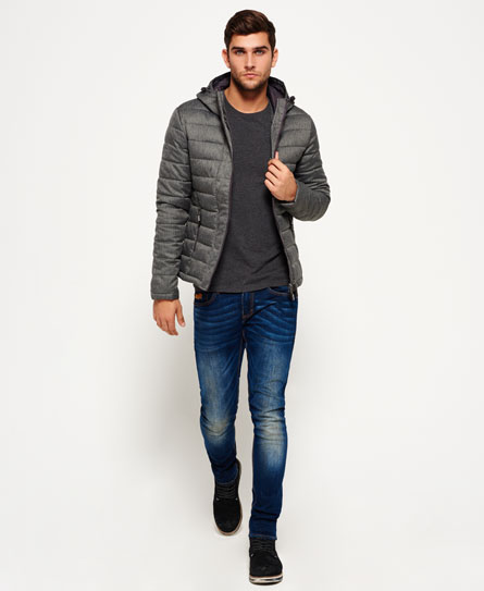 Superdry Fuji Double Zip Hooded Tweed Jacket