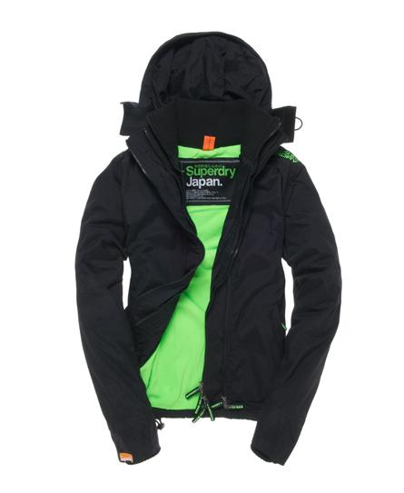 Superdry Hooded Polar Windcheater Black