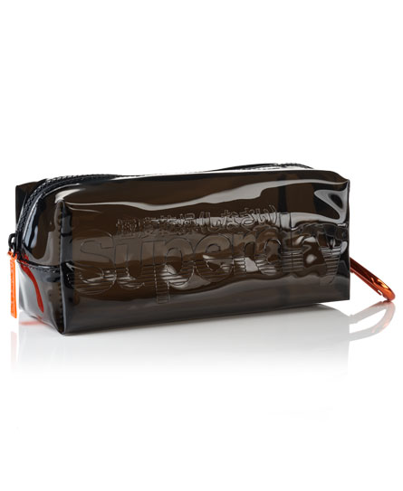 black Superdry Jelly Pencil Case