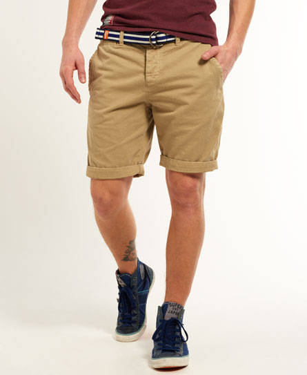 Mens International Chino Shorts In Sand Superdry