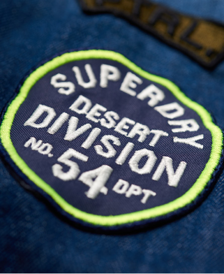 Superdry Dragway Patch Denim Shirt