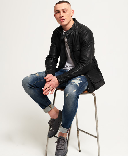 Superdry Leather Rotor Jacket
