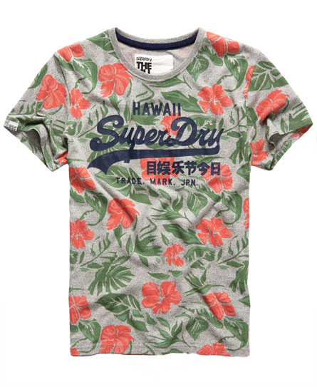 Superdry hawaii floral t shirt men 39 s t shirts for Floral mens t shirts