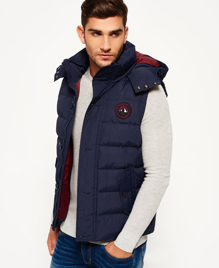 blu navy Superdry Gilet Everest