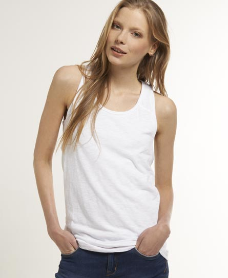 Superdry Slouch Tank Top White