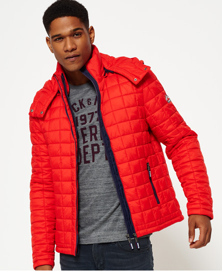 sport code red Superdry Hooded Box Quilt Fuji Jacket