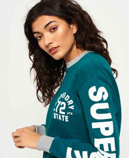 Sweatshirt mit Rundhalsausschnitt und Logo auf den Ärmeln
