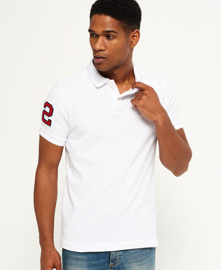 optic Superdry Classic Embossed Pique Polo Shirt