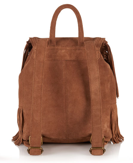 Superdry Premium Suede Neo Nomad Fringed Backpack