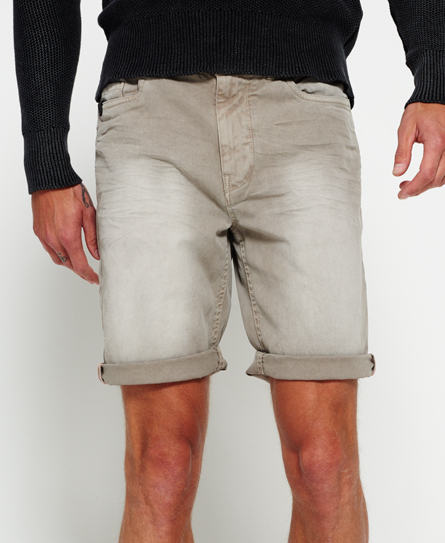 smoke grey Superdry Surplus Goods Custom Jean Shorts