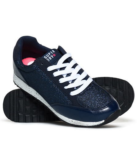tinten-marineblau-metallic Superdry Core Runner Sneaker