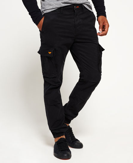 nero Superdry Pantaloni in cotone Rookie Grip