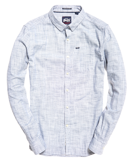 Superdry Langærmet Boston skjorte med button down-krave