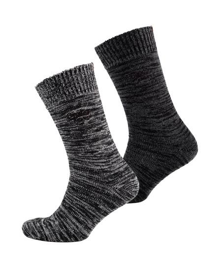grit grey/charcoal grit Superdry Big Hiker Socks Double Pack