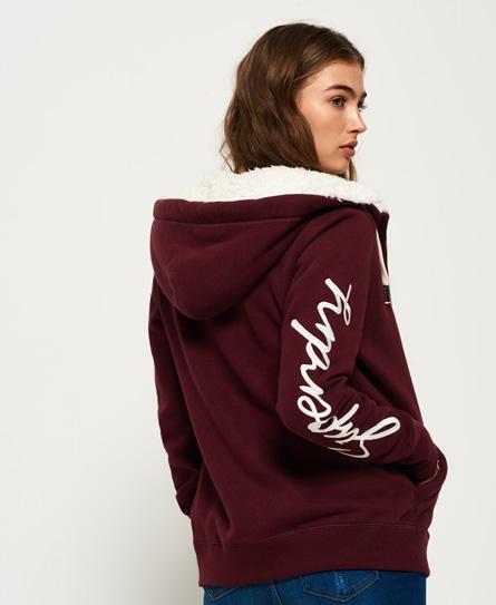 Superdry Applique hoodie met rits