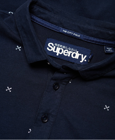Superdry City All Over Print Jersey Polo Shirt
