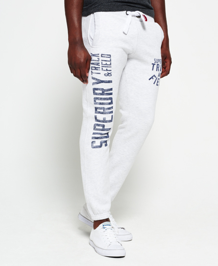 weiss meliert Superdry Trackster Jogginghose