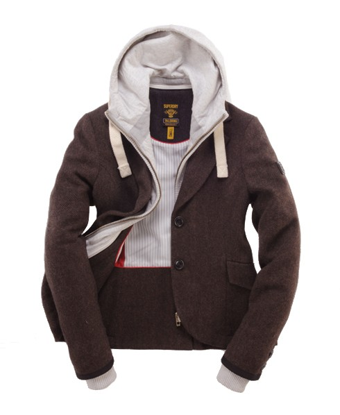 Superdry Hunting Hood Blazer Brown