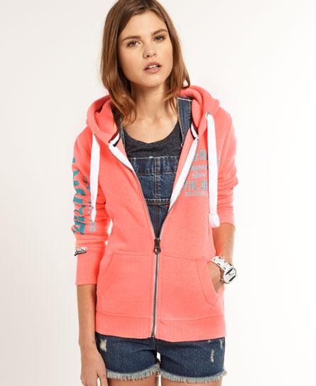 superdry track field kapuzenjacke damen hoodies. Black Bedroom Furniture Sets. Home Design Ideas